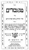 בעל השואל ומשיב וגיסו בעל המאמר מרדכי בספרם מגן גיבורים